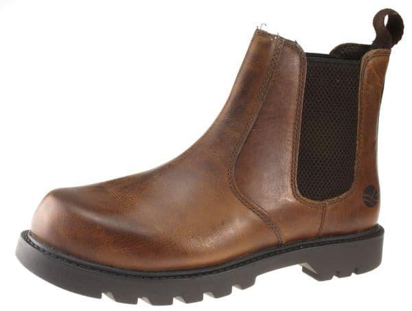 Oaktrak Rocksley 2 Mens Tan Brown Chelsea Boots